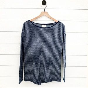 Lou & Grey blue striped long sleeve top
